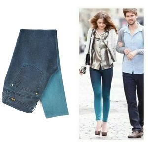 DL1961 Emma Ombre Deep Teal Stretch Jeans 27 4